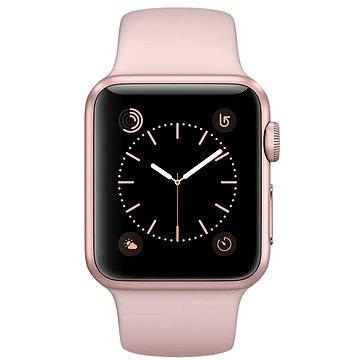 Chytré hodinky Apple Watch Series 1 38mm Růžově zlatý hliník s pískově růžovým sportovním řemínkem (MNNH2CN/A)