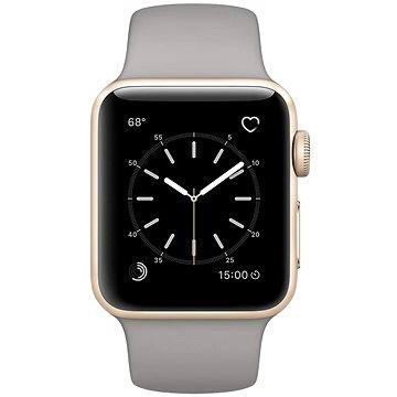 Chytré hodinky Apple Watch Series 1 38mm Zlatý hliník s cementově šedým sportovním řemínkem (MNNJ2CN/A)