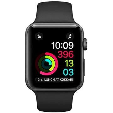 Chytré hodinky Apple Watch Series 1 38mm Vesmírně šedý hliník s černým sportovním řemínkem (MP022CN/A)