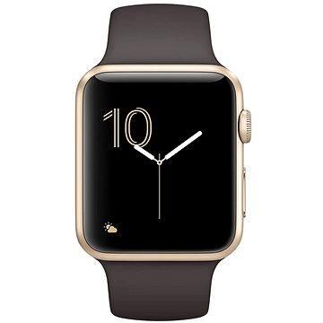 Apple Watch Series 1 42mm Zlatý hliník s kakaově hnědým sportovním řemínkem (MNNN2CN/A)