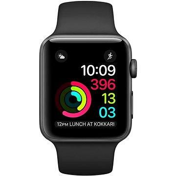 Chytré hodinky Apple Watch Series 1 42mm Vesmírně šedý hliník s černým sportovním řemínkem (MP032CN/A)