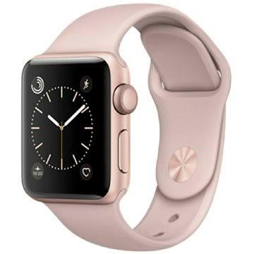 Chytré hodinky Apple Watch Series 1 42mm Růžově zlatý hliník s pískově růžovým sportovním řemínkem (mq112cn/a)
