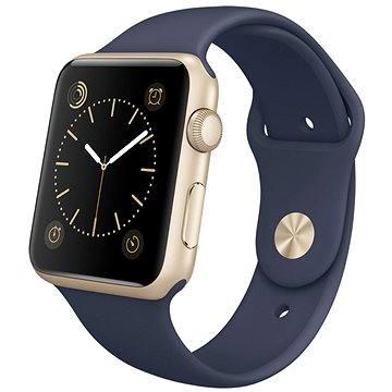Chytré hodinky Apple Watch Series 1 42mm Zlatý hliník s půlnočně modrým sportovním řemínkem (mq122cn/a)