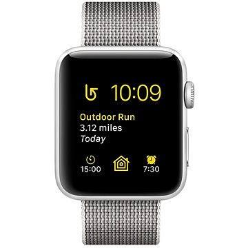 Chytré hodinky Apple Watch Series 2 38mm Stříbrný hliník s perlově šedým řemínkem z tkaného nylonu (MNNX2CN/A)