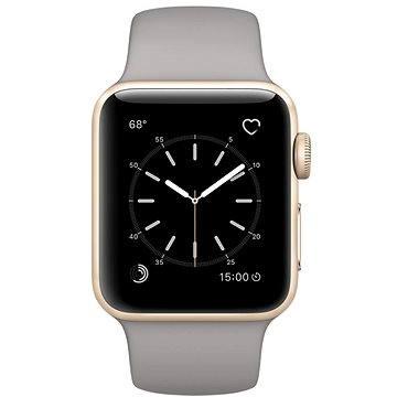 Chytré hodinky Apple Watch Series 2 38mm Zlatý hliník s cementově šedým sportovním řemínkem (MNP22CN/A)