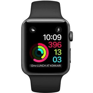 Chytré hodinky Apple Watch Series 2 38mm Vesmírně šedý hliník s černým sportovním řemínkem (MP0D2CN/A)
