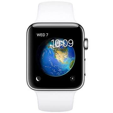 Chytré hodinky Apple Watch Series 2 38mm Nerezová ocel s bílým sportovním řemínkem (MNP42CN/A)