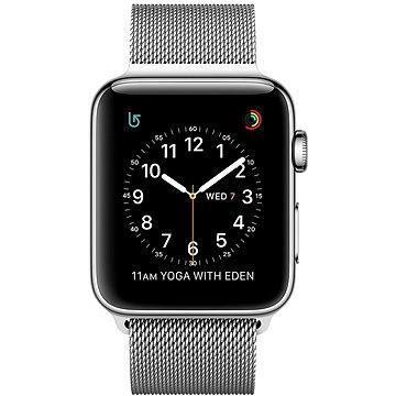 Chytré hodinky Apple Watch Series 2 38mm Nerez ocel se stříbrným milánským tahem (MNP62CN/A)