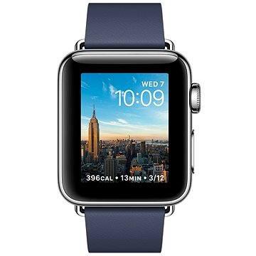 Chytré hodinky Apple Watch Series 2 38mm Nerezová ocel s půlnočně modrým řemínkem s moderní přezkou - velkým (MNPA2CN/A)