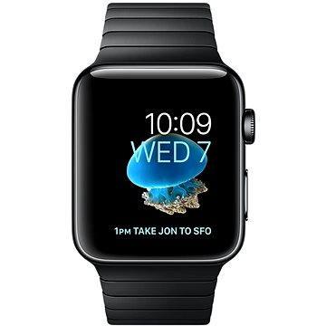 Chytré hodinky Apple Watch Series 2 38mm Vesmírně černá nerezová ocel s vesmírně černým článkovým tahem (MNPD2CN/A)