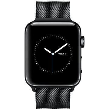 Chytré hodinky Apple Watch Series 2 38mm Vesmírně černá nerezová ocel s vesmírně černým milánským tahem (MNPE2CN/A)