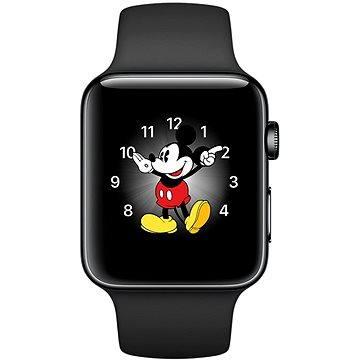 Chytré hodinky Apple Watch Series 2 38mm Vesmírně černá nerezová ocel s vesmírně černým sportovním řemínkem (MP492CN/A)