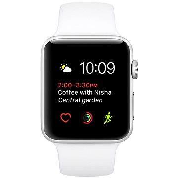 Chytré hodinky Apple Watch Series 2 42mm Stříbrný hliník s bílým sportovním páskem (MNPJ2CN/A)