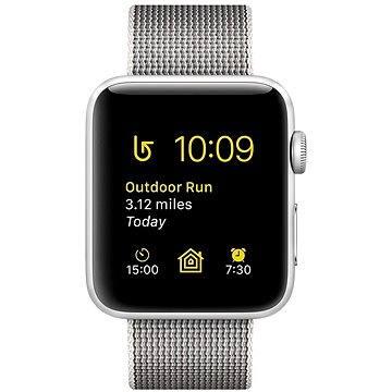 Chytré hodinky Apple Watch Series 2 42mm Stříbrný hliník s perlově šedým řemínkem z tkaného nylonu (MNPK2CN/A)