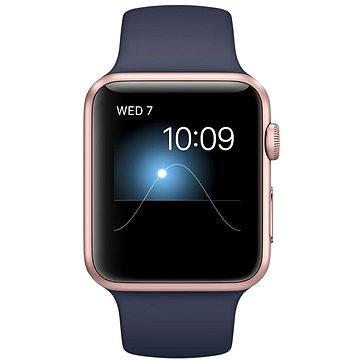 Chytré hodinky Apple Watch Series 2 42mm Růžově zlatý hliník s půlnočně modrým sportovním řemínkem (MNPL2CN/A)