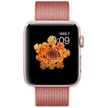 Chytré hodinky Apple Watch Series 2 42mm Růžově zlatý hliník s vesmírně oranžovým / antracitově šedým řemínkem (MNPM2CN/A)