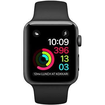 Chytré hodinky Apple Watch Series 2 42mm Vesmírně šedý hliník s černým sportovním řemínkem (MP062CN/A)
