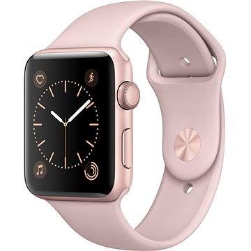Chytré hodinky Apple Watch Series 2 42mm Růžově zlatý hliník s pískově růžovým sportovním řemínkem (mq142cn/a)