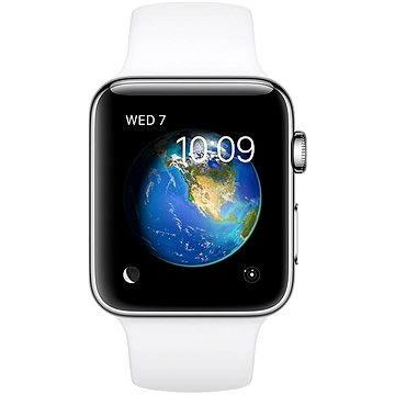 Chytré hodinky Apple Watch Series 2 42mm Nerezová ocel s bílým sportovním řemínkem (MNPR2CN/A)