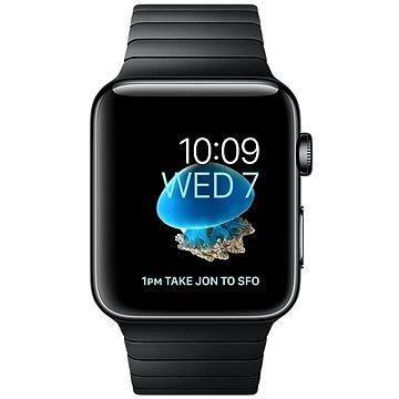 Chytré hodinky Apple Watch Series 2 42mm Vesmírně černá nerezová ocel s vesmírně černým článkovým tahem (MNQ02CN/A)