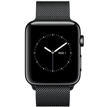 Chytré hodinky Apple Watch Series 2 42mm Vesmírně černá nerezová ocel s vesmírně černým milánským tahem (MNQ12CN/A)