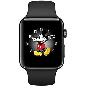 Chytré hodinky Apple Watch Series 2 42mm Vesmírně černá nerezová ocel s vesmírně černým sportovním řemínkem (MP4A2CN/A)