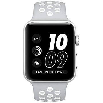 Chytré hodinky Apple Watch Series 2 Nike+ 38mm Stříbrný hliník s matně stříbrným / bílým sportovním řemínkem Nike (MNNQ2CN/A)