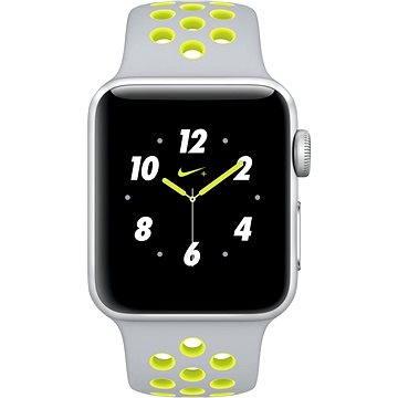 Chytré hodinky Apple Watch Series 2 Nike+ 38mm Stříbrný hliník s matně stříbrným / Volt sportovním řemínkem Nike (MNYP2CN/A)