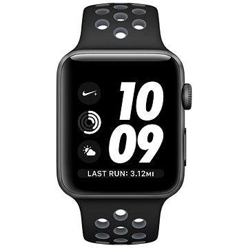 Chytré hodinky Apple Watch Series 2 Nike+ 38mm Vesmírně šedý hliník s černým / chladně šedým sportovním řemínkem Ni (MNYX2CN/A)
