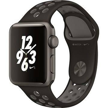 Chytré hodinky Apple Watch Series 2 Nike+ 38mm Vesmírně šedý hliník s antracitově černým sportovním řemínkem Nike (MQ162CN/A)