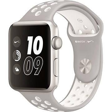 Chytré hodinky Apple Watch Series 2 Nike+ 38mm Stříbrný hliník s platinově bílým sportovním řemínkem Nike (MQ172CN/A)