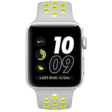 Chytré hodinky Apple Watch Series 2 Nike+ 42mm Stříbrný hliník s matně stříbrným / Volt sportovním řemínkem Nike (MNYQ2CN/A)