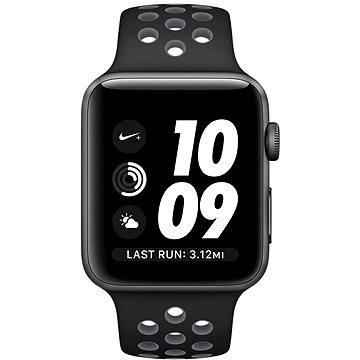 Chytré hodinky Apple Watch Nike+ 42mm Vesmírně šedý hliník s černým / chladně šedým sportovním řemínkem Nike (MNYY2CN/A)
