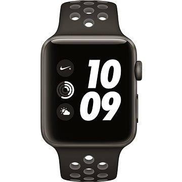 Chytré hodinky Apple Watch Series 2 Nike+ 42mm Vesmírně šedý hliník s antracitově černým sportovním řemínkem Nike (MQ182CN/A)