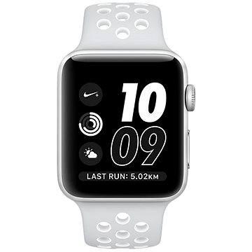 Chytré hodinky Apple Watch Series 2 Nike+ 42mm Stříbrný hliník s platinově bílým sportovním řemínkem Nike (MQ192CN/A)