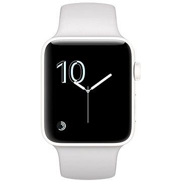 Chytré hodinky Apple Watch Series 2 Edition 42mm Bílá keramika s oblačně bílým sportovním řemínkem (MNPQ2CN/A)