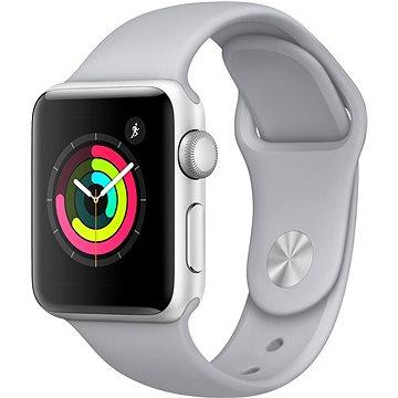 Chytré hodinky Apple Watch Series 3 38mm GPS Stříbrný hliník s mlhově šedým sportovním řemínkem (MQKU2CN/A)