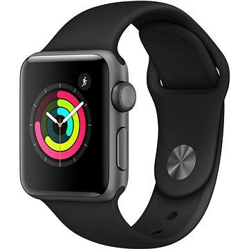 Chytré hodinky Apple Watch Series 3 38mm GPS Vesmírně šedý hliník s černým sportovním řemínkem (MQKV2CN/A)