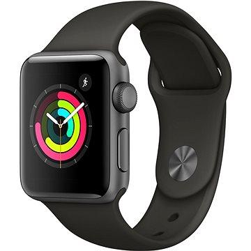 Chytré hodinky Apple Watch Series 3 38mm GPS Vesmírně šedý hliník s šedým sportovním řemínkem (MR352CN/A)