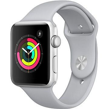 Apple Watch Series 3 42mm GPS Stříbrný hliník s mlhově šedým sportovním řemínkem (MQL02CN/A)