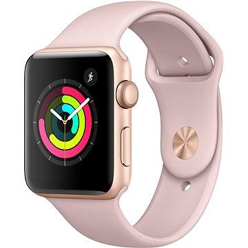 Chytré hodinky Apple Watch Series 3 42mm GPS Zlatý hliník s pískově růžovým sportovním řemínkem (MQL22CN/A)