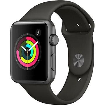 Chytré hodinky Apple Watch Series 3 42mm GPS Vesmírně šedý hliník s šedým sportovním řemínkem (MR362CN/A)
