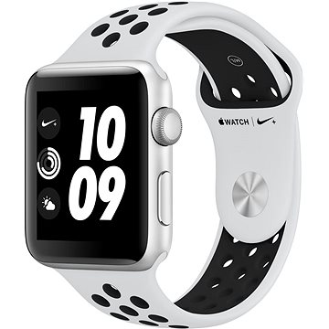 Chytré hodinky Apple Watch Series 3 Nike+ 42mm GPS Stříbrný hliník s platinovým/šedým sportovním řemínkem Nike (MQL32CN/A)