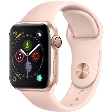 Apple Watch Series 4 40mm Zlatý hliník s pískově růžovým sportovním řemínkem (MU682HC/A)