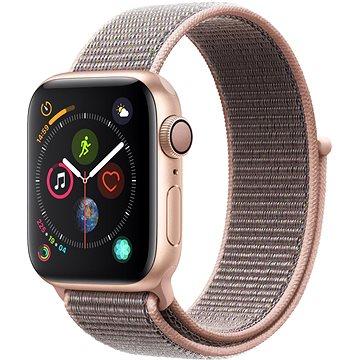 Apple Watch Series 4 40mm Zlatý hliník s pískově růžovým provlékacím sportovním řemínkem (MU692HC/A)