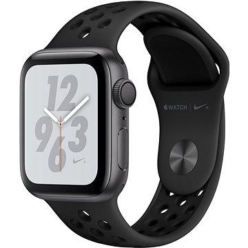Apple Watch Series 4 Nike+ 40mm Vesmírně černý hliník s antracitovým/černým sportovním řemínkem Nike (MU6J2HC/A)