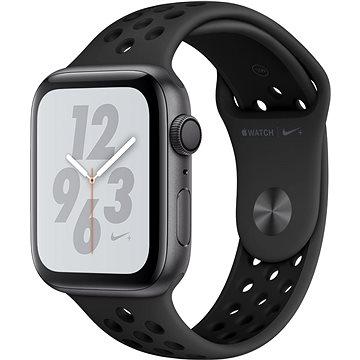 Apple Watch Series 4 Nike+ 44mm Vesmírně černý hliník s antracitovým/černým sportovním řemínkem (MU6L2HC/A)