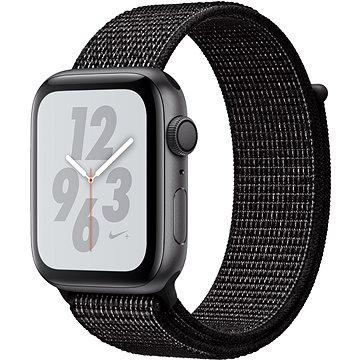 Apple Watch Series 4 Nike+ 44mm Vesmírně černý hliník s černým provlékacím sportovním řemínkem (MU7J2HC/A)