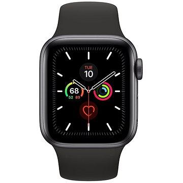 Apple Watch Series 5 40mm Vesmírně šedý hliník s černým sportovním řemínkem (MWV82HC/A)