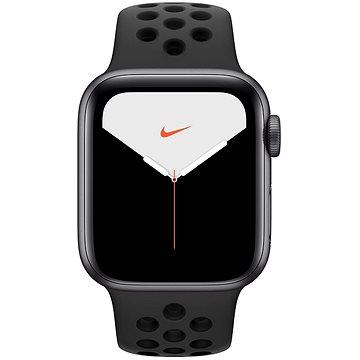 Apple Watch Nike Series 5 40mm Vesmírně šedý hliník s antracitovým/černým sportovním řemínkem Nike (MX3T2HC/A)